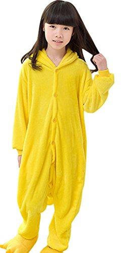 GILLBRO Pikachu Pigiama Kigurumi pigiama unisex adulto Cosplay Costume Animale, Pikachu O 105 cm