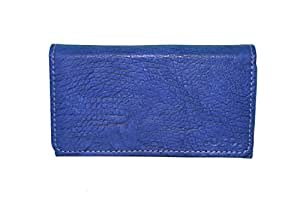 TOTTA PU Leather Wallet Pouch For Micromax Canvas Amaze 2- BLUE