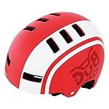 DOPPELGANGER キッズヘルメット [頭周囲:51~55cm 対象年齢目安:3歳8歳] ベンチレーション配置 CE適合/製品安全基準合格品 手洗い可能インナーパッド BMXベースモデル DHL270-RD