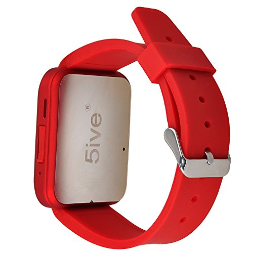 5ive® U80 Bluetooth 4.0 Smart Wrist Wrap Watch Phone for Smartphone Android Samsung S2/S3/S4/S5/S6Note 2/Note 3/Note 4/HTC Part Function for iPhone (Wine Red)