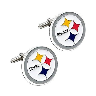 NFL Cut Out Logo Cuff Link, Silver