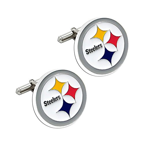 NFL Cut Out Logo Cuff Link, Silver