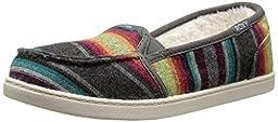 Roxy Roxy Girl Lido Wool III Slip On Shoe (Little Kid/Big Kid), Multi, 1 M US Little Kid