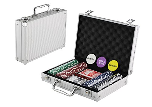 Learn More About KOVOT 200 Chip Dice Style Poker Set In Aluminum Case (11.5 Gram Chips)