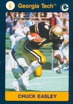 Chuck Easley Football Card Georgia Tech 1991