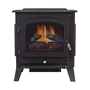 Tahoe 90402110 Dual Power Electric Stove Fireplace Heater