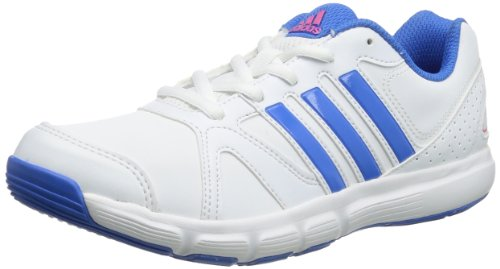 Adidas Womens Essential Star II Indoor Shoes White Weià (Running White Ftw / Blast Blue F13 / Ray Pink F13) Size: 42 2/3