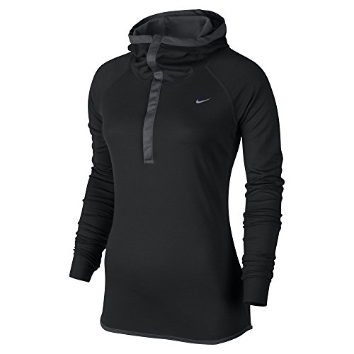 Nike Women's Dri-FIT Wool Running Hoodie, Black, Medium