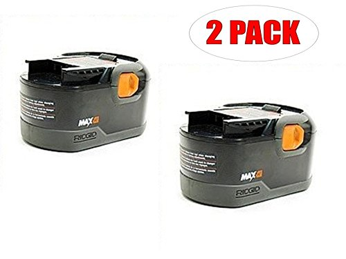 Ridgid R8411503 Drill Replacement 18-Volt NiCad MAX 2.5 Ah Battery (2-PACK) # 130254011-2PK (Ridged Hammer Drill compare prices)