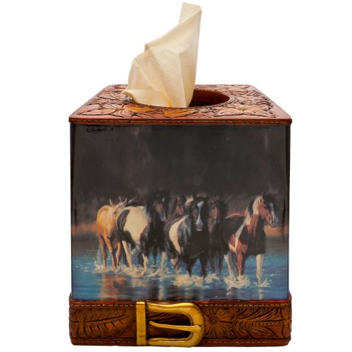 Rivers Edge Products Rush Hour Tissue Box Cover