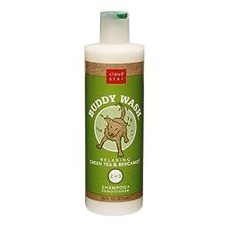 Cloud Star Buddy Wash, 2 in 1 Shampoo + Conditioner Green Tea & Bergamot 16.0 fl oz