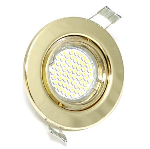 17er Set faretto da incasso Lia 230V GU10IP20colore oro 60SMD LED bianco 3Watt equivalente 30Watt Plafoniera