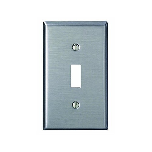Leviton 84001 1-Gang Toggle Device Switch Wallplate, Standard Size, Device Mount, Stainless Steel (Protective Wall Covering compare prices)