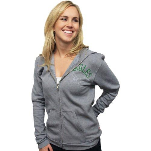 Junk Food Philadelphia Eagles Women's Overdye Heather Zip Up Hooded Sweatshirt XX Large