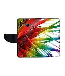 KolorEdge Printed Flip Cover For Samsung Galaxy A8 Multicolor - (1479-55KeMLogo12342SamA8)