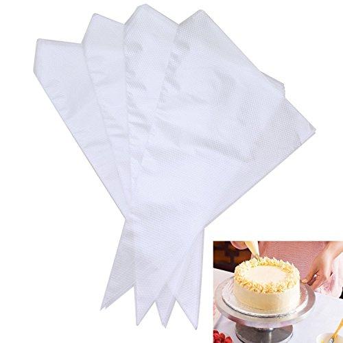 SUMERSHA Poches à Douilles Jetables en Plastique Sachet Décoration Crème Pâtisserie Gâteau 100pcs
