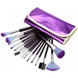 16Pcs Blush Eye Shadow Foundation Powder Makeup Brushes Cosmetic Set Kit With Purple Bag