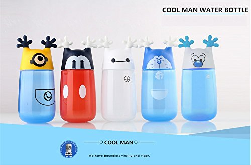 [Rabbit malls ,1 Piece 350ml Cute Cartoon Minions Water Cup Eco-friendly Plastic Portable Children Water Bottle sampling goods by Rabbit malls] (Costume Design For Film Courses)