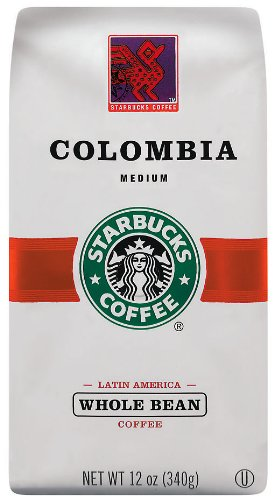 Starbucks Colombian Coffee, Whole Bean, 12-Ounce Bags (Pack of 3)