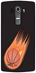 Snoogg Basketball Fire Designer Protective Back Case Cover For LG G4