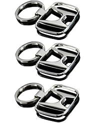Indiashopers Honda Full Metal KeyRing KeyChain (Pack Of 3)