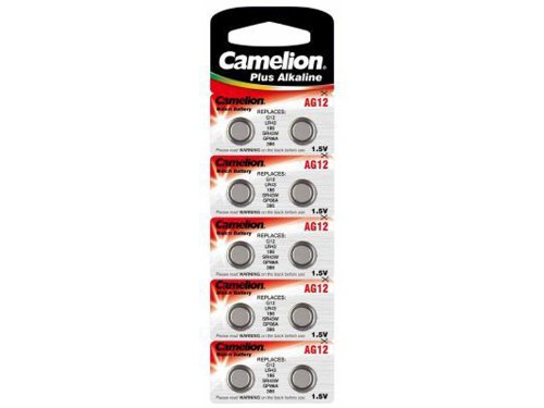 Camelion Pack de 10 piles Alkaline AG12