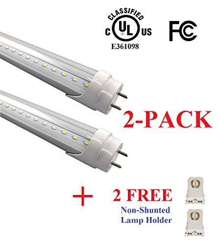 (2 PACK) UL Listed- T8 LED Tube Light - 4FT 48