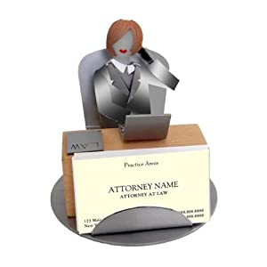Female Lawyer Business Card Holder