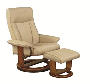 Mac Motion Chairs 7294 02 103 Polyurethane Swivel Recliner With