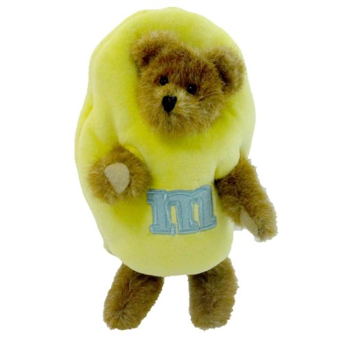 "Sunny 7"" Pastel Yellow Boyds Plush Peeker Bear (Retired) - 1"