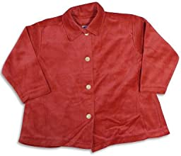 Mulberribush - Little Girls39 Long Sleeve Velour Swing Jacket