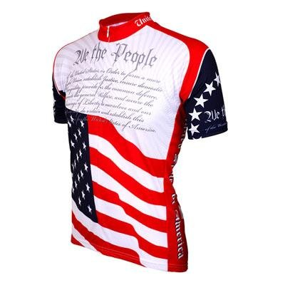 Buy Low Price World Jersey's US Constitution Short Sleeve Cycling Jersey (B004MAY1JU)