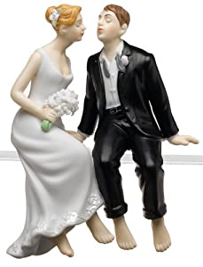 Weddingstar Whimsical Sitting Bride and Groom - Caucasian
