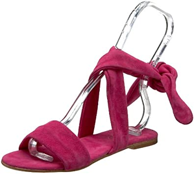 Butter Women's Aspen Ankle-Wrap Sandal,hot pink suede,7 M US