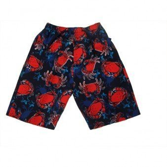 Boys Designer Blue & Red Crab Swim Surf Board Shorts Swimming Trunks 3-4 yrs