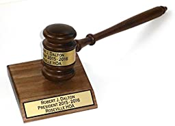 Gavel and 4 X 4 Sound Block Personalized