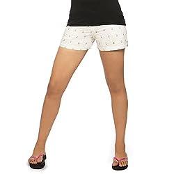 idiotheory White Chaiwalla Women's Shorts (ITWCCWLLSWE02_XL)