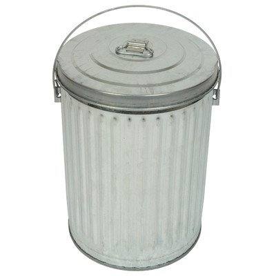 Medium Duty Galvanized 10-Gal Economy Can and Lid (10 Gallon Galvanized Trash Can compare prices)