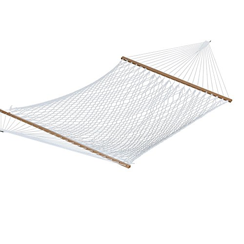 Vivere – 60 Inch Polyester Rope Double Hammock in White