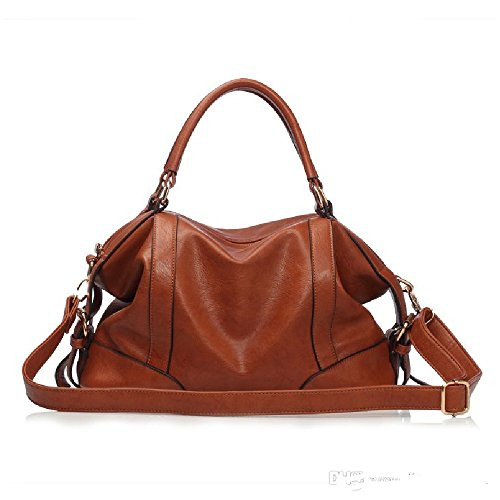 Vintage Women Lady Geniune Leather Shoulder Bag Handbag Tote Hobo Messenger Medium