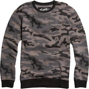 Fox Racing Outfoxed Camo Crew Fleece Sweatshirt - Large/Black Camo
