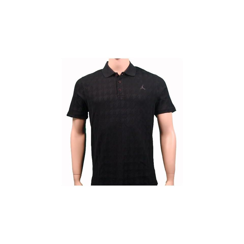 Nike Air Jordan Mens Polo Shirt Black Collared  Sports