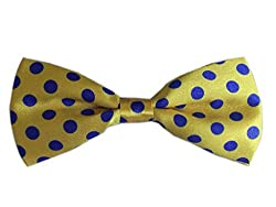 BLACKSMITHH YELLOW POLKA DOTS BOWTIE