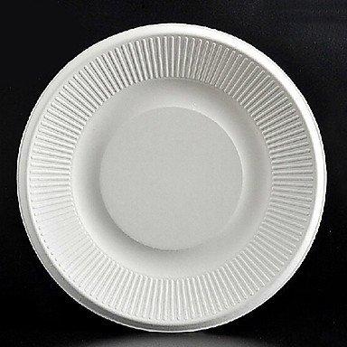 TTOMI 8 pouces ronde jetable assiettes en papier 50pcs / sac