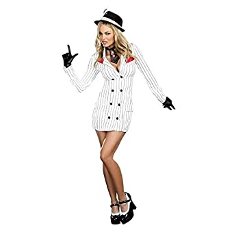 Smooth Criminal Sexy Mobster Gangster Gal Womens Halloween Costume