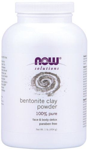 Now Foods solutions Bentonite Clay Powder 100% pure, 1 lb
