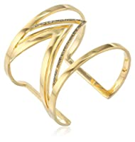 Paige Novick Veronica Collection Open Zigzag Pave Line Cuff Bracelet from Paige Novick