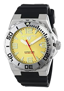 "Swiss Legend Men's 10008-07SET ""Expedition"" Stainless Steel, Black Silicone, and Yellow Dial Watch Set"