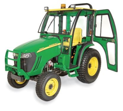 John Deere Compact Tractor Hard Sided Deluxe Cab. Fits John Deere 3120, 3320, 3520, 3720, 4210, 4310, 4410. 1JD3520AS