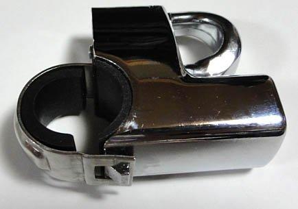 シージーシー(C.G.C) ヘルメットロック 22-25φ用 メッキ CGC-21114 シージーシー(C.G.C)